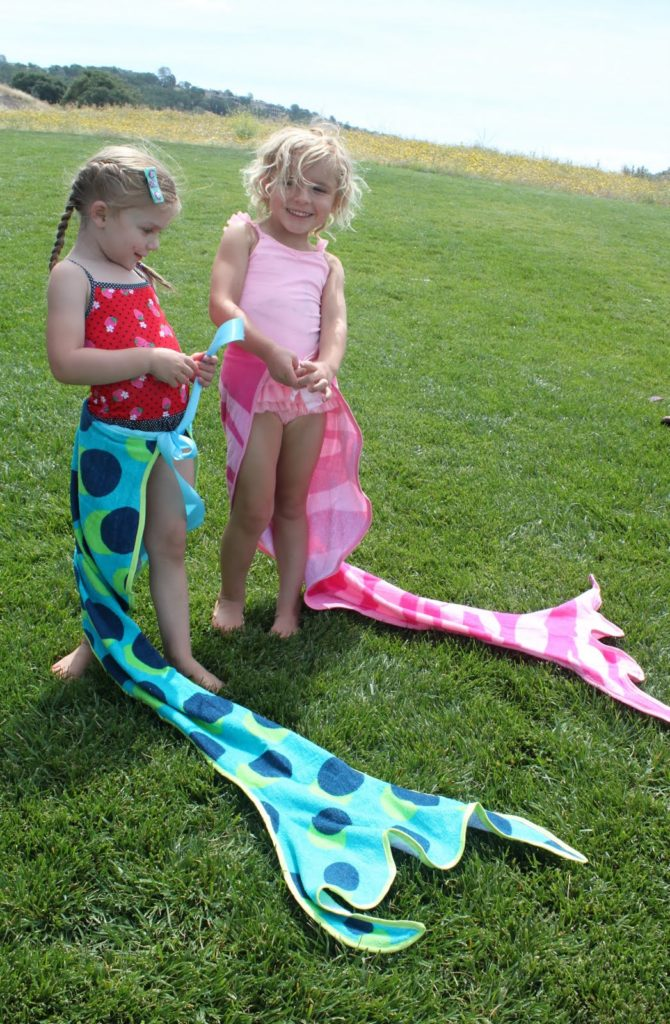 Mermaid tail towels
