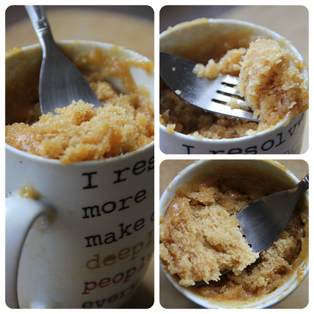 Peanut butter mug cake recipe