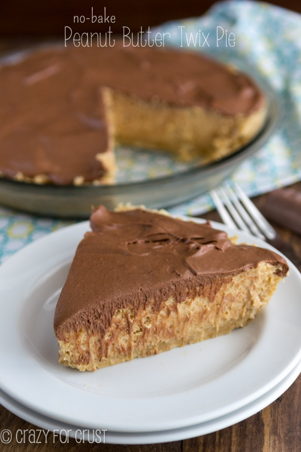 Peanut butter twix pie