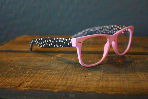 Pink polka dot glasses