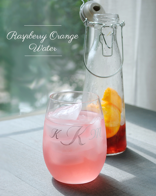 Raspberry orange water