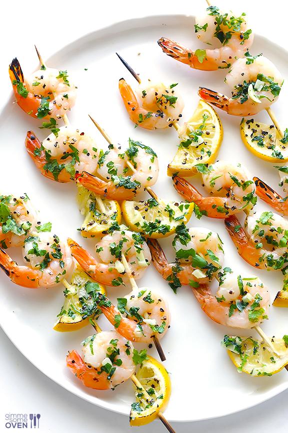 Shrim scamp skewers