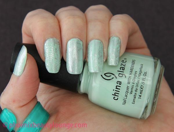 Mint python manicure from phoenixbeautylounge com