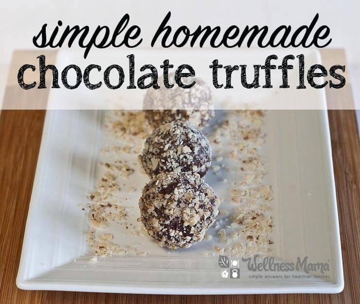 Simple homemade chocolate truffles recipe