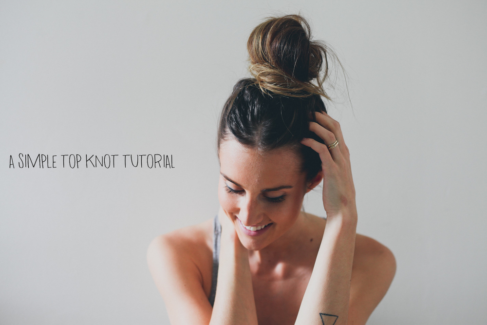 Simple top knot tutorial