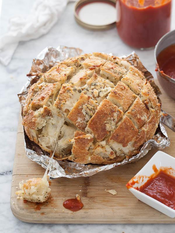 Smoked mozz pizza bread foodiecrush 009