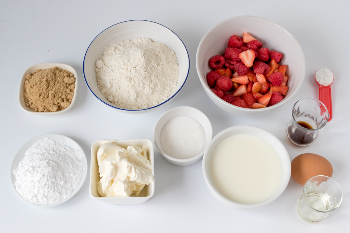Strawberry cheesecake pancakes ingredients