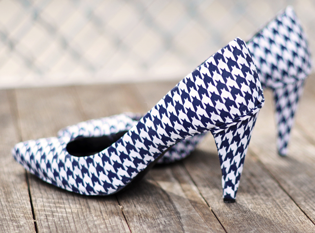 Stylish fabric covered shoes