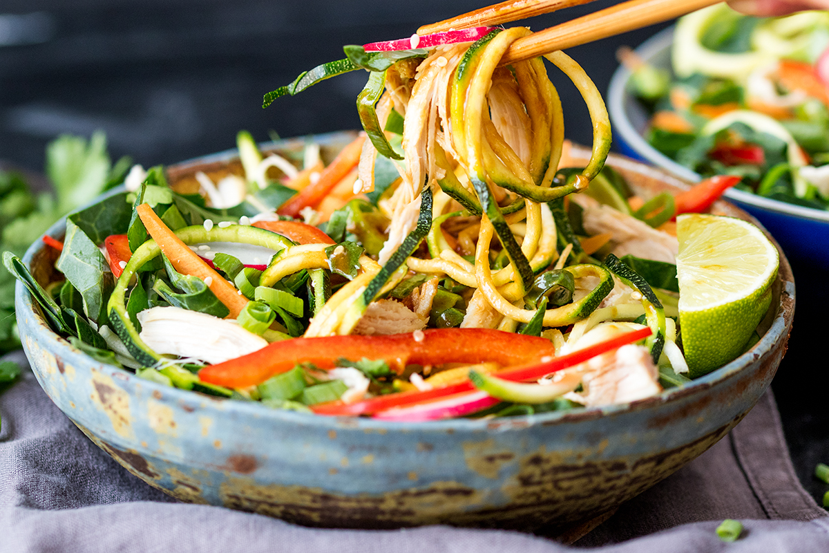Thai chicken zoodle salad 3