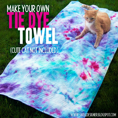 Beach Blanket Experiment: DIY Beach Towels For Summer