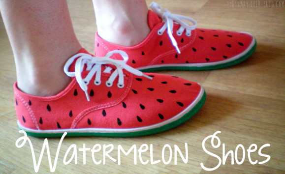 Watermelon sneakers diy