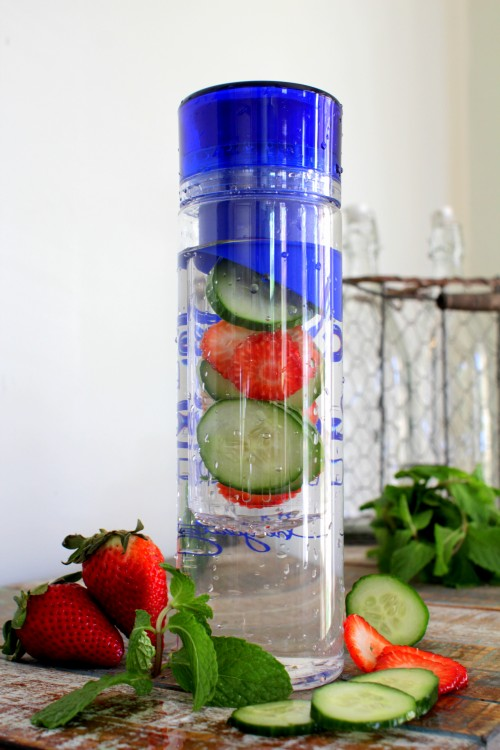 Anti bloat detox water