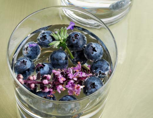 Blueberry lavender water