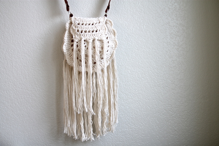 Boho tassel crochet bag 3