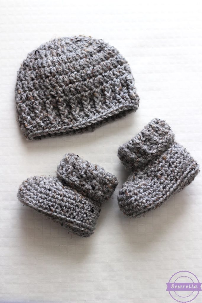 Booties and beanie