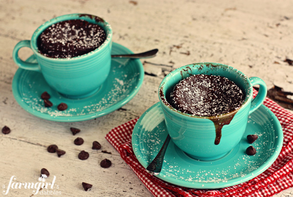 Chocolate cake in a mug recipe