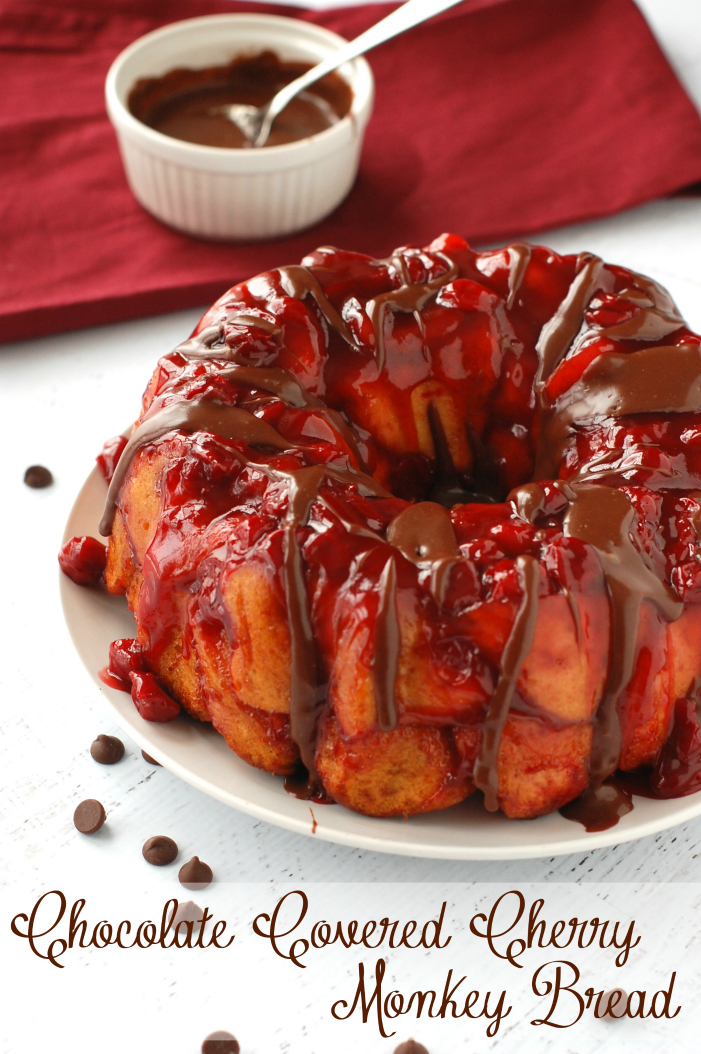 Chocolate covered cherry monkey bread5