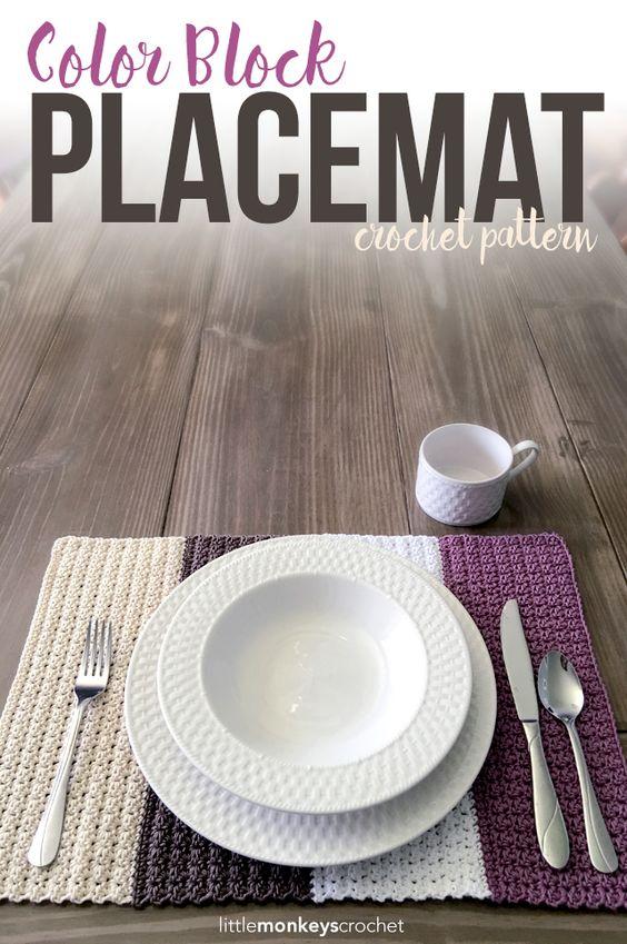 Color block placemat