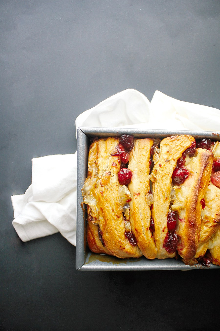 Cranberry and brie pull apart bread recipe