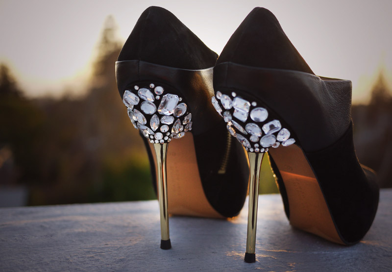 Diy jeweled heels