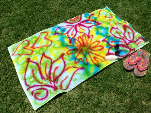 Graffiti beach towels