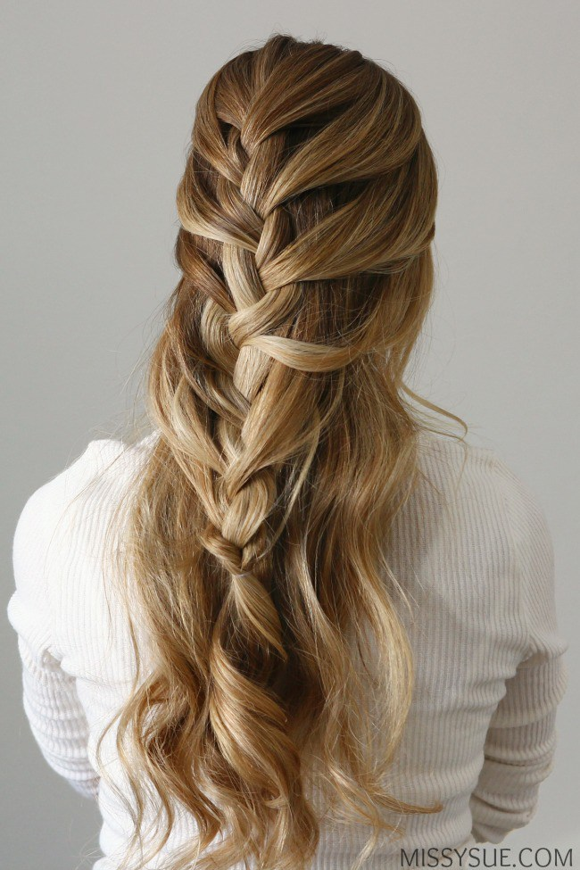 Half up french braid tutorial
