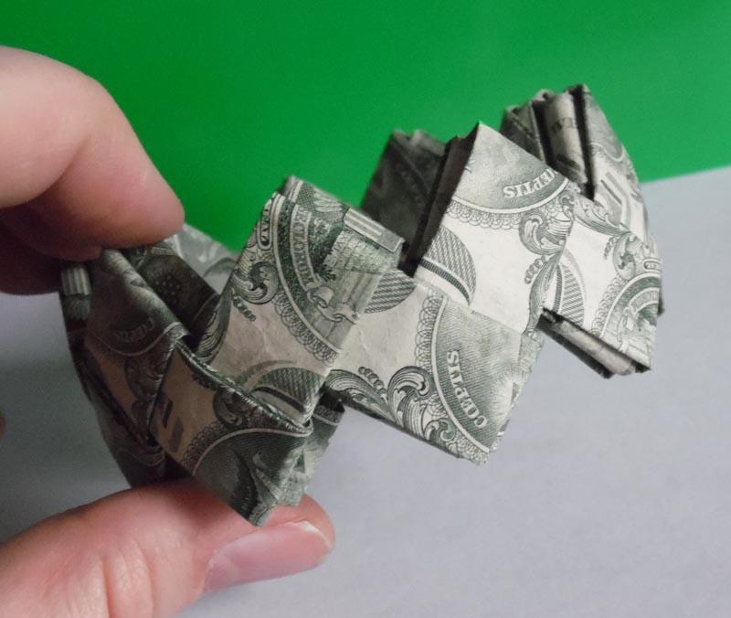 Money Origami Flower Folding Instructions - YouTube | 676x800
