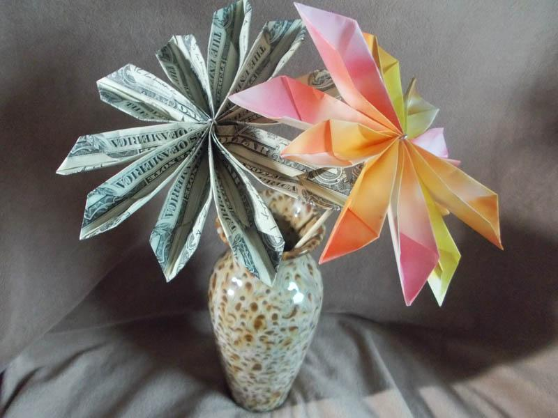 Youll love these cute and clever ways to give cash as a graduation gift money origami flowers mightylinksfo