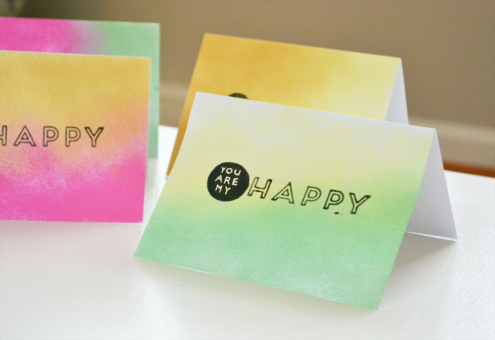 Ombre greeting cards 10