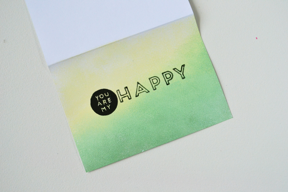 Ombre greeting cards 8