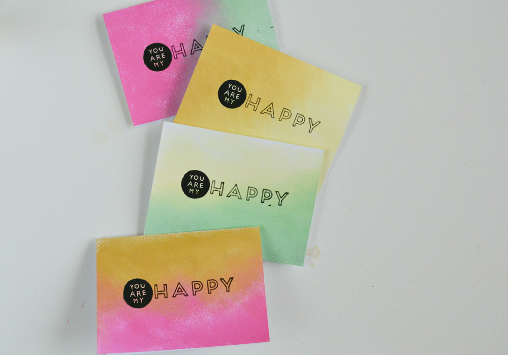 Ombre greeting cards 9