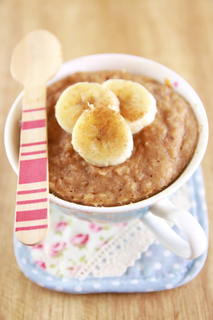 Peanut butter banana mug cake recipe