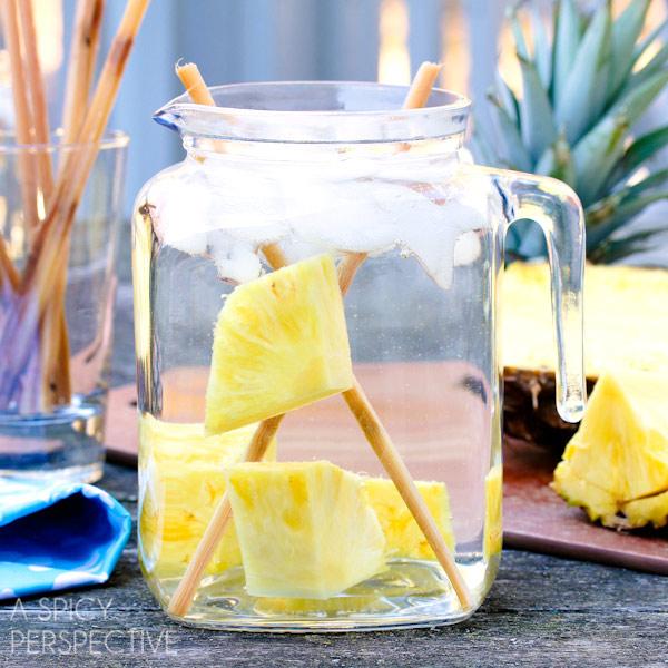 Pineapple sugarcane water