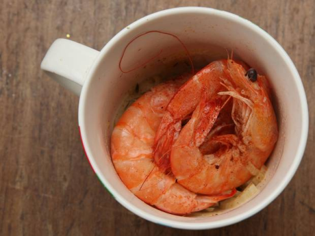 Prawns in a mug recipe
