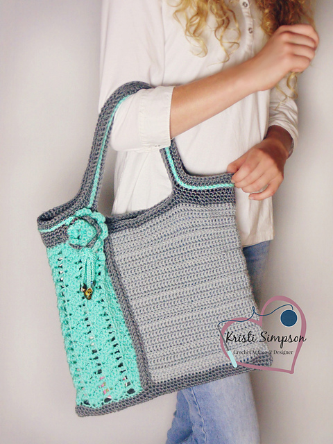 Seas glass tote