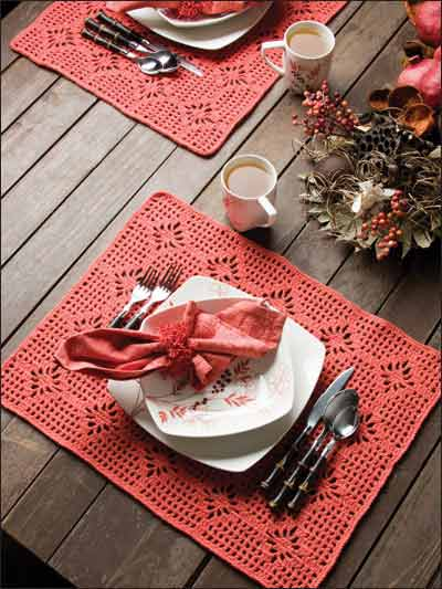 Spiderweb stitch placemat