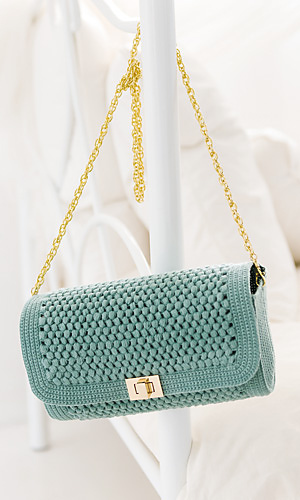 Square flap shoulder bag