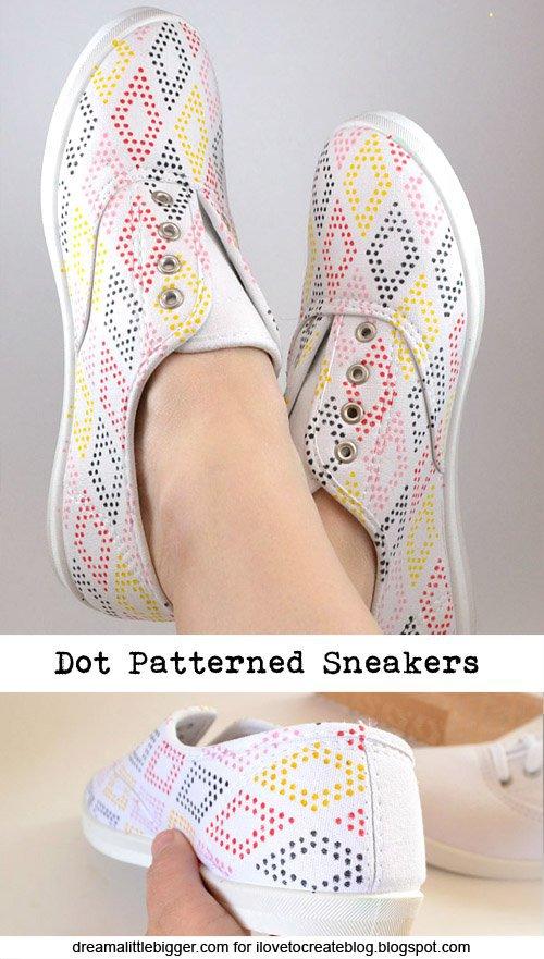 Stencil shoe diy