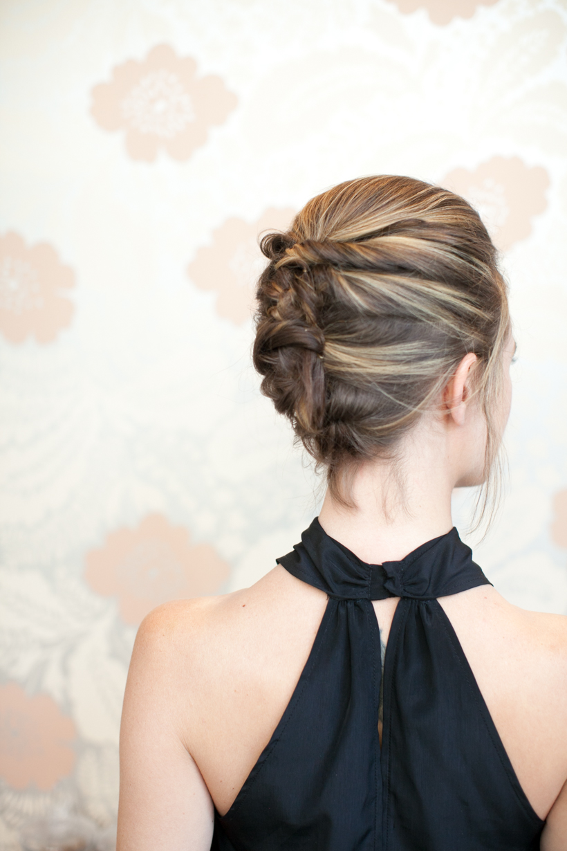 Textured french twist diy