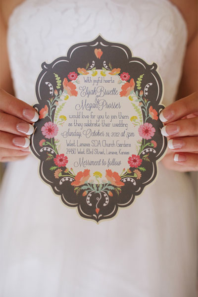 1 die cut wedding invitations