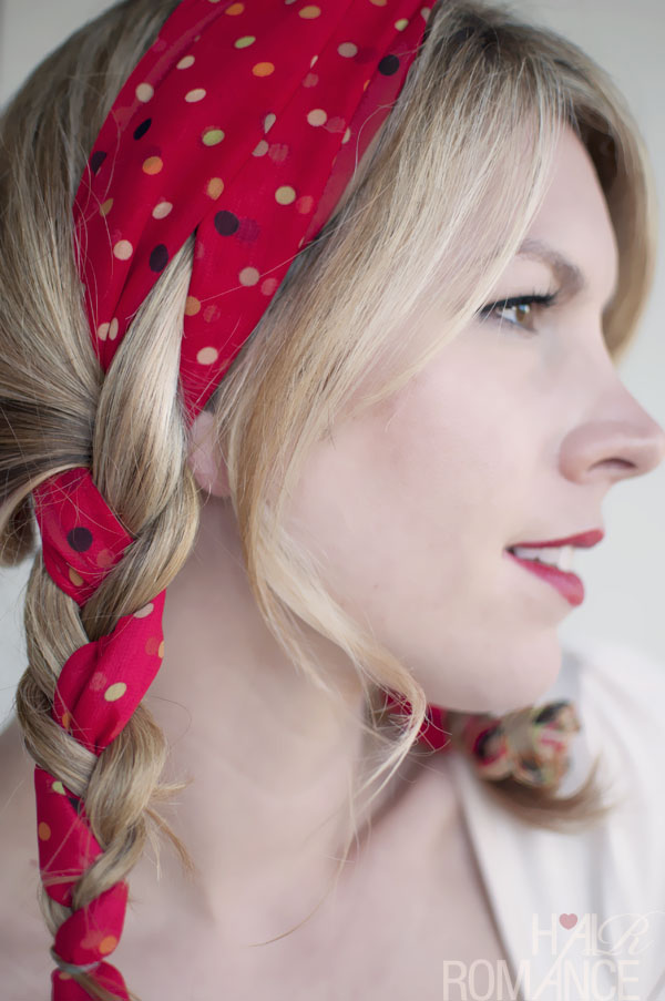polka dot fabric braid