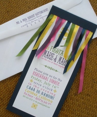 11 ribbon invitation