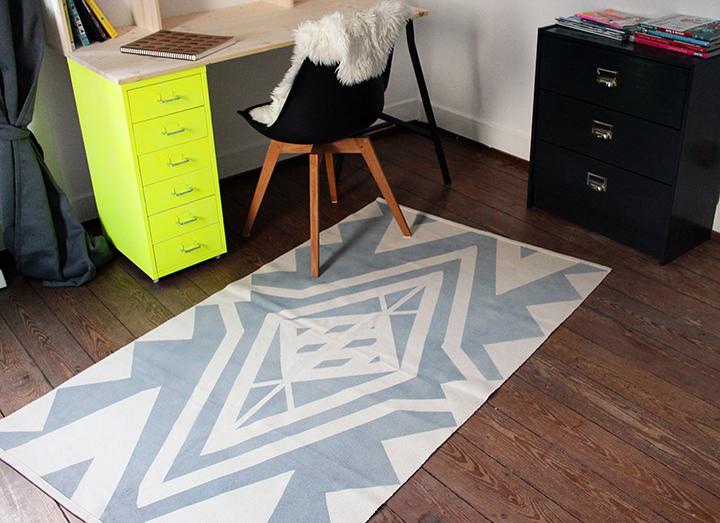 diy geometric rug