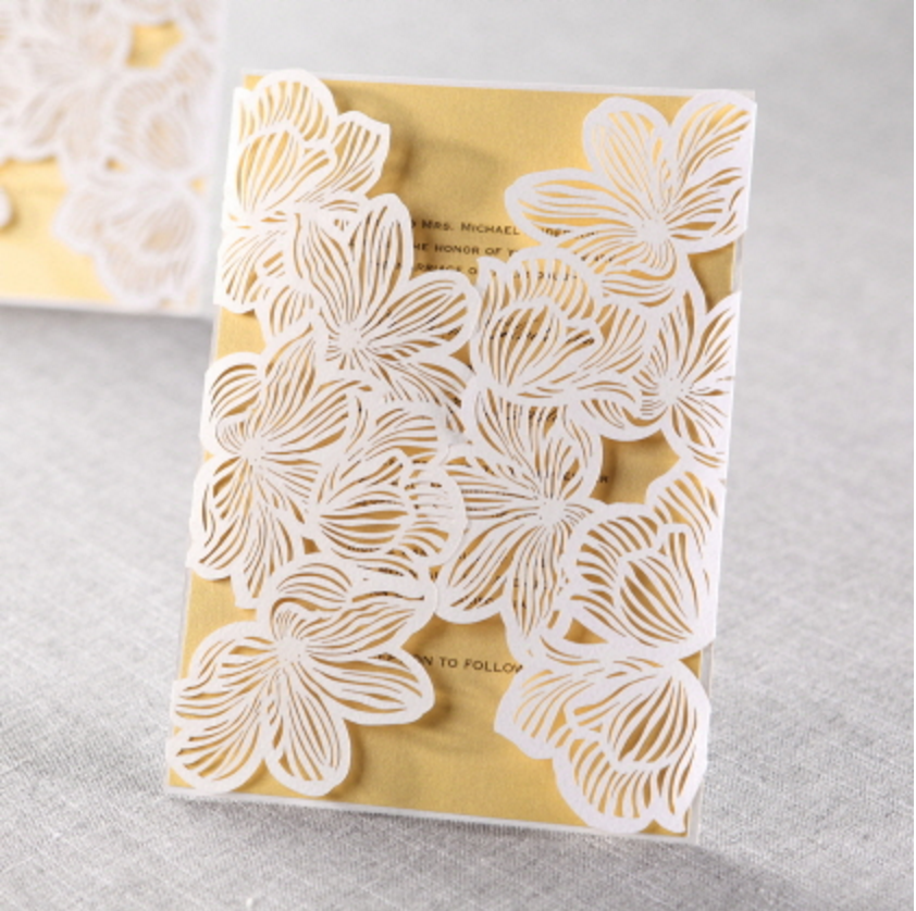12 laser cut invitations