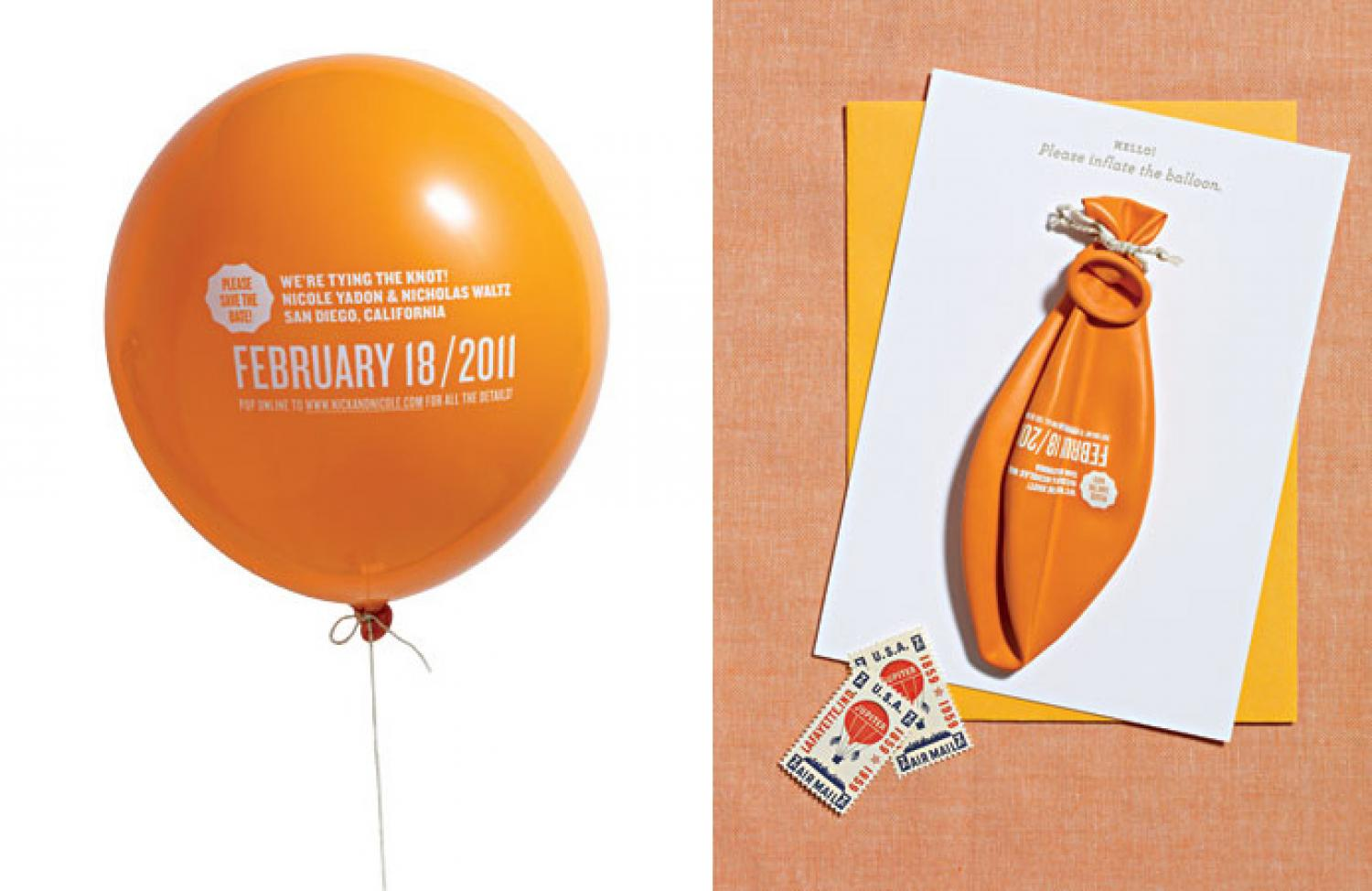 13 balloon invitation