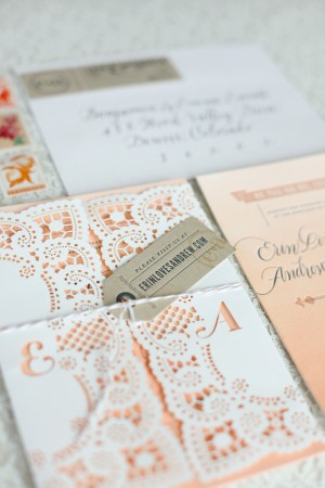 15 ombre doily invitation wedding