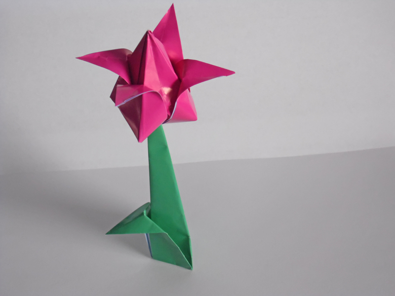 Decorate your home with these beautiful origami flowers 180246 800x600 origami tulip 09 mightylinksfo