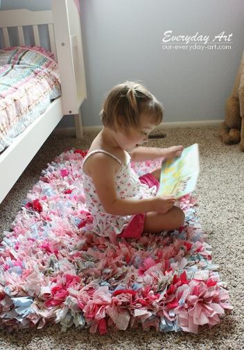 fabric scrap rag rug