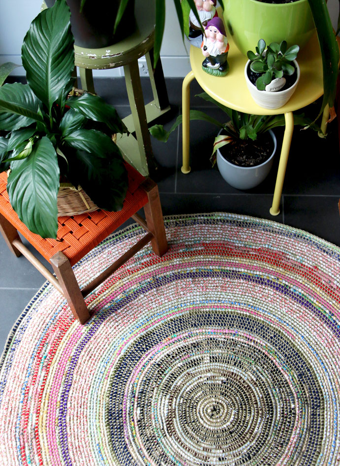 2 coil crochet rug