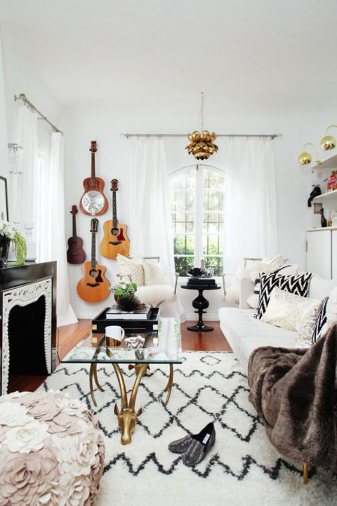 21 bohemian living room guitars patterns